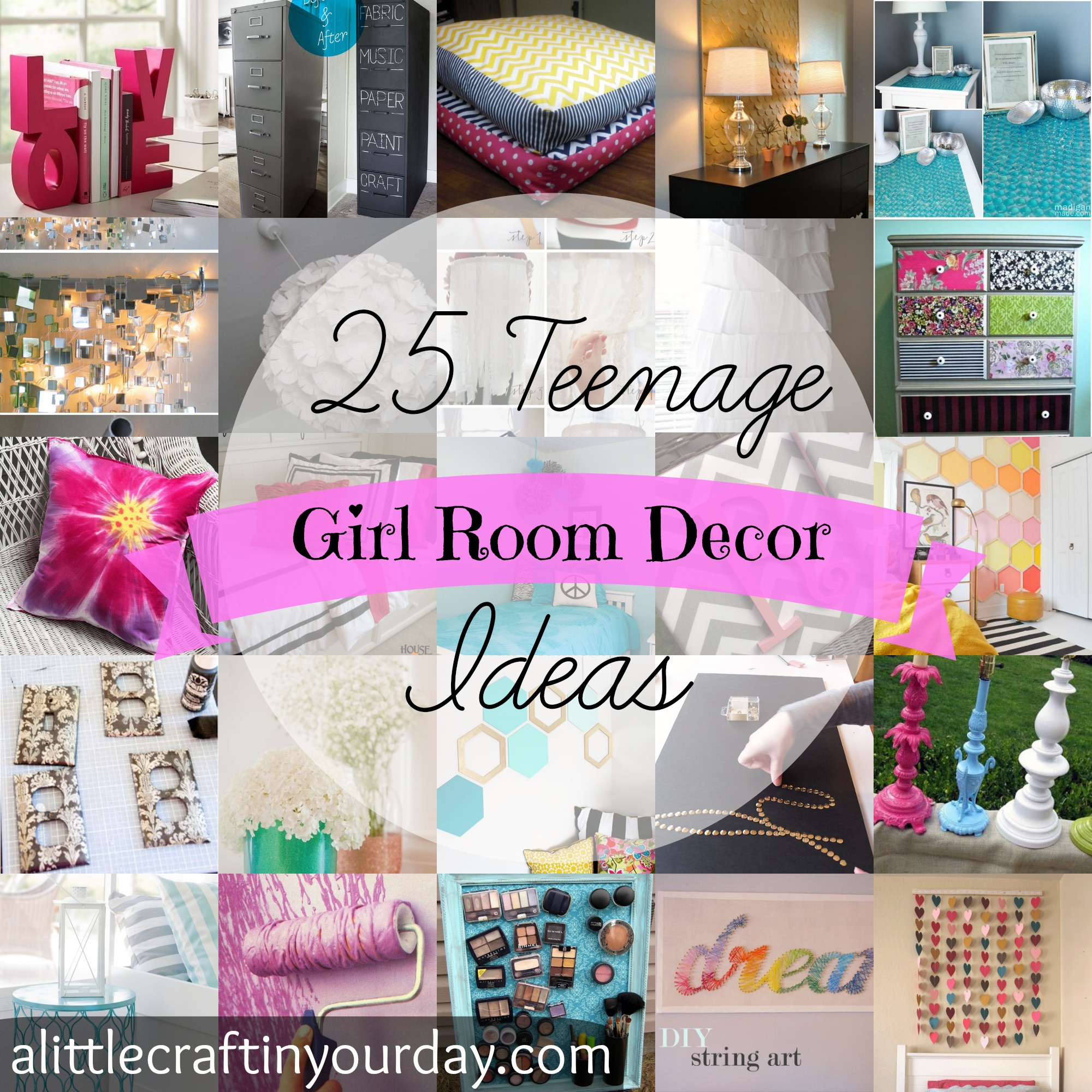 25 teen girl room decor ideas craft teen for Teenage girl room decorating ideas