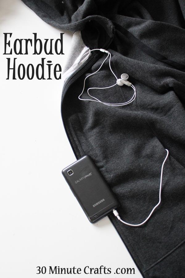 Earbud-hoodie