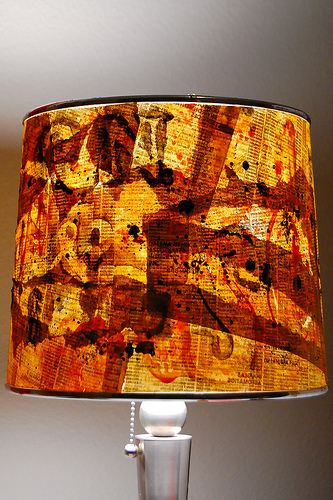 telephone book graffiti lamp