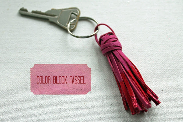 color block tassle key chain 1