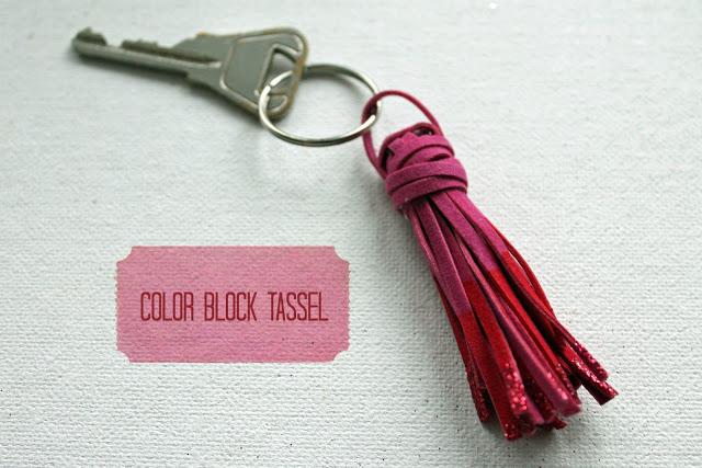 color block tassle key chain 1