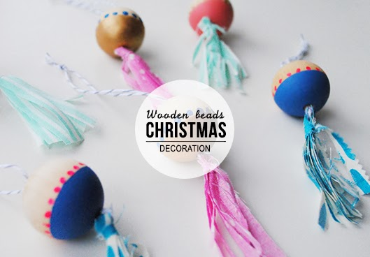 homemade wooden christmas ornaments - Beaded Christmas Tree Decorations To Make