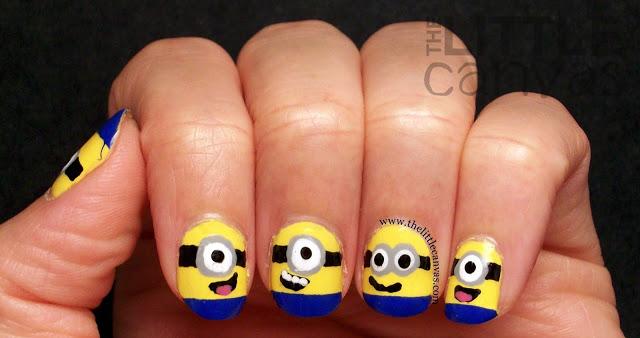 Despicable Me Minion Nail Art 2