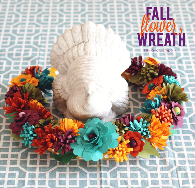 Thanksgiving Table Decor: Fall Flower Wreath {Tutorial}