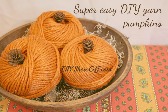 DIY Fall Yarn Pumpkins