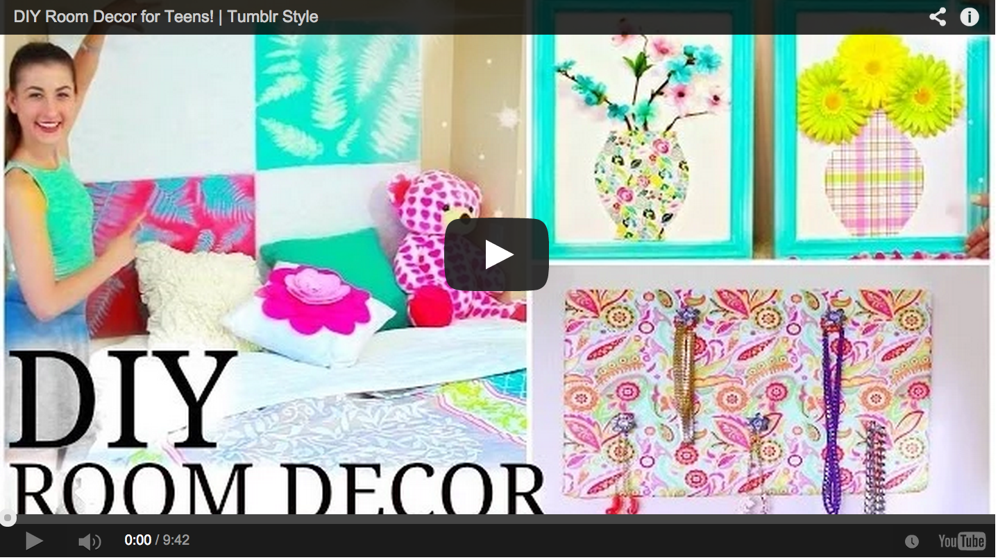 Diy room decor for teens tumblr style craft teen for Bedroom ideas diy