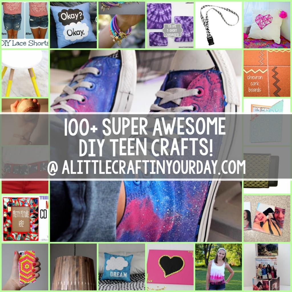 100 super awesome crafts for teens craft teen for Diy decor crafts