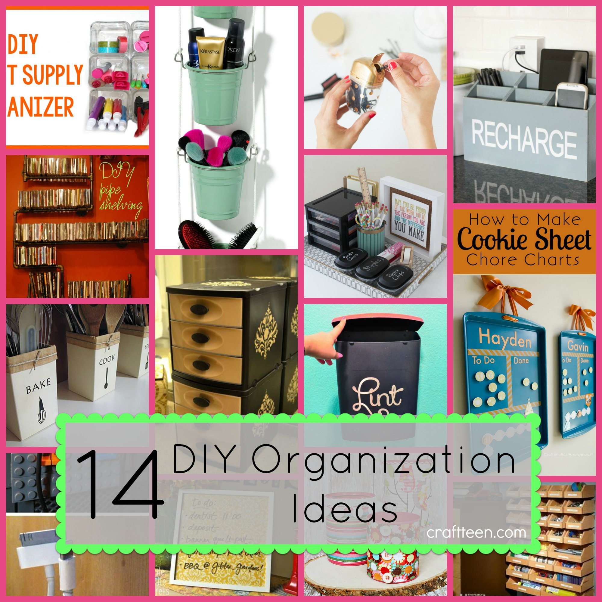 14 diy organization ideas craft teen