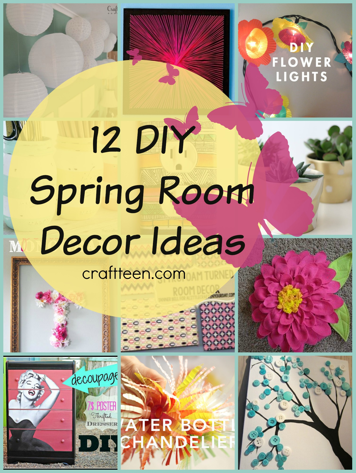 teen 12 room spring craft diy ideas spring room decor diy decor