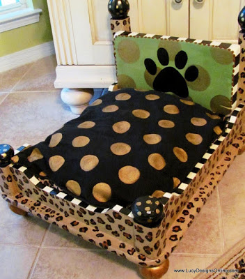 dog bed -leopard 022